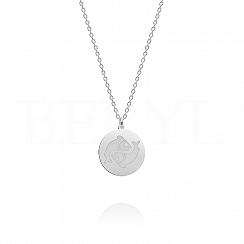 Naszyjnik znak zodiaku ryby srebrny dwustronny