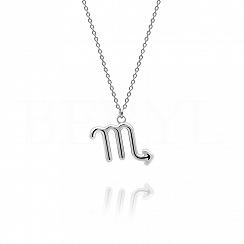 Naszyjnik znak zodiaku skorpion srebrny