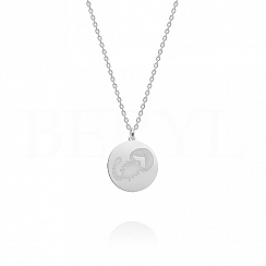 Naszyjnik znak zodiaku skorpion srebrny dwustronny