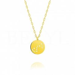 Znak zodiaku skorpion gwiazdozbiór naszyjnik srebrny pozłacany