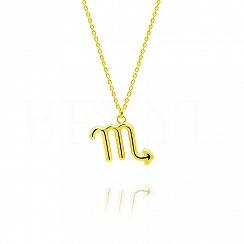 Naszyjnik znak zodiaku skorpion srebrny pozłacany