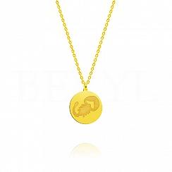 Naszyjnik znak zodiaku skorpion srebrny pozłacany dwustronny