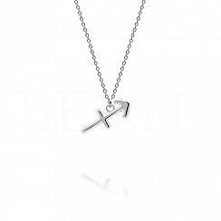 Naszyjnik znak zodiaku strzelec srebrny
