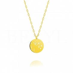 Znak zodiaku strzelec gwiazdozbiór naszyjnik srebrny pozłacany