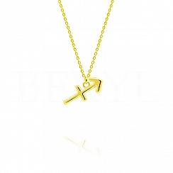 Naszyjnik znak zodiaku strzelec srebrny pozłacany