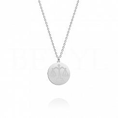 Naszyjnik znak zodiaku waga srebrny dwustronny