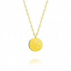 Znak zodiaku waga gwiazdozbiór naszyjnik srebrny pozłacany