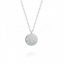 Znak zodiaku wodnik gwiazdozbiór naszyjnik srebrny