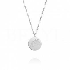 Naszyjnik znak zodiaku wodnik srebrny dwustronny