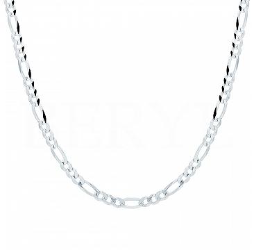 Łańcuszek męski srebrny 50 cm - spolt figaro 4 mm