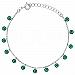 Bransoletka srebrna z zielonymi kryształkami