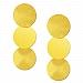 Kolczyki geometryczne srebrne pozłacane wiszące trzy koła
